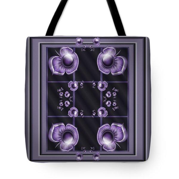 Purple Dimensions Tote Bag