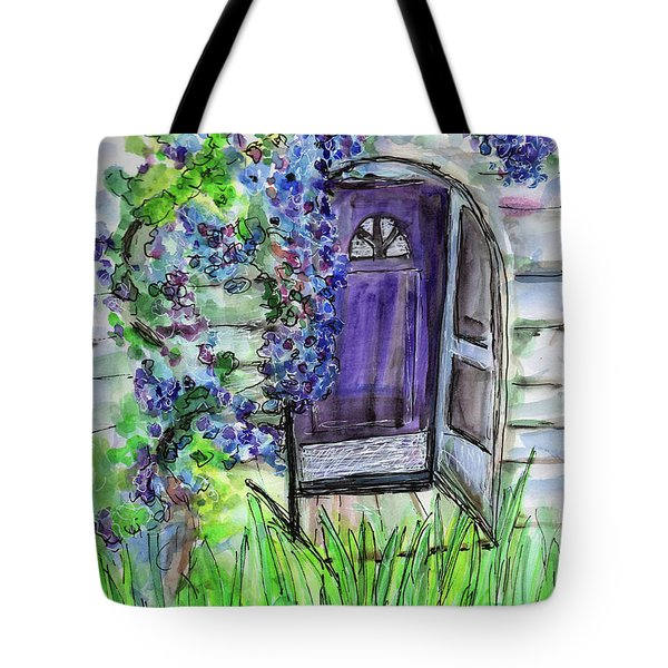 Purple Doorway Tote Bag