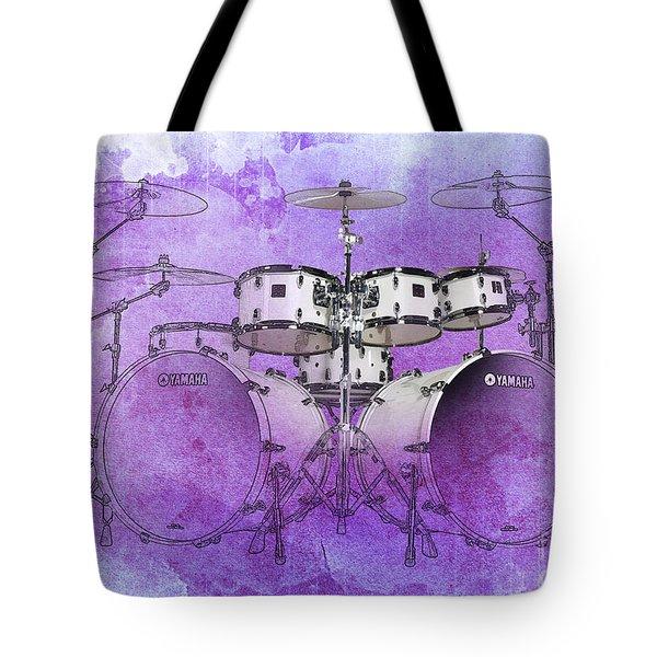 Purple Drums Tote Bag