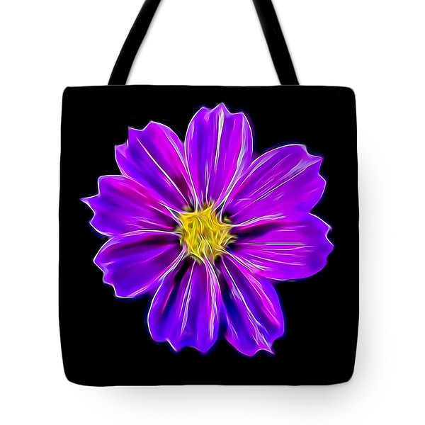 Purple Electric Tote Bag