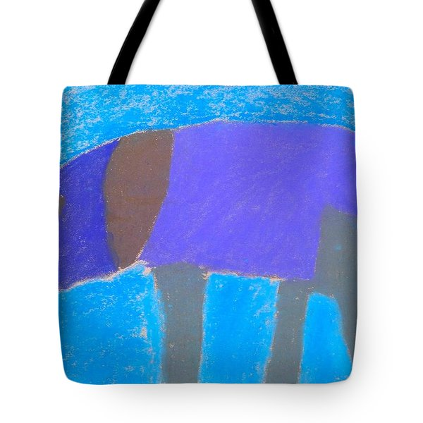 Tote Bag featuring the pastel Purple Elephant by Artists With Autism Inc