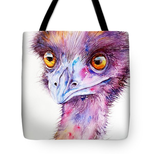 Purple Emu Tote Bag