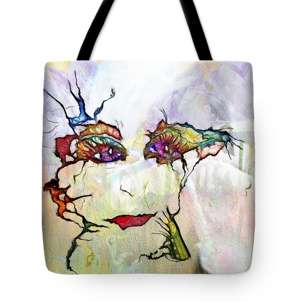 Purple Eyed Nymph Tote Bag