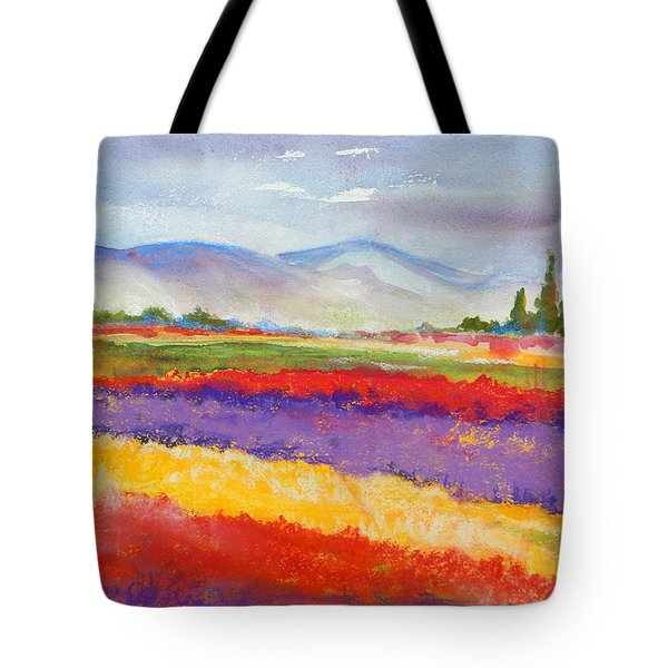 Purple Fields Tote Bag