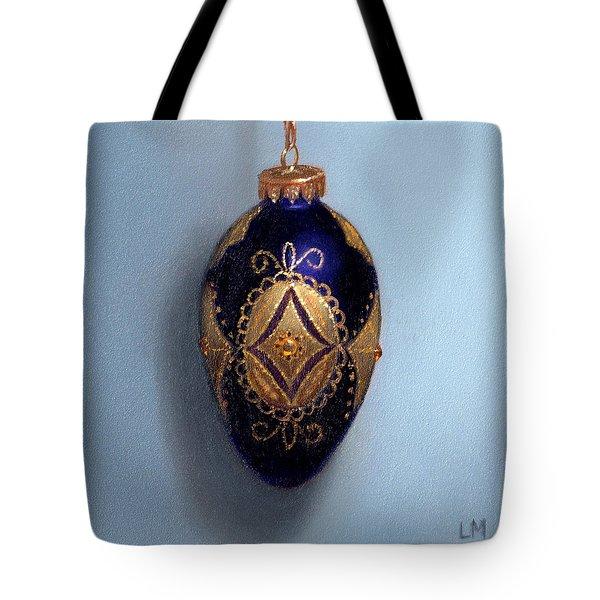 Purple Filigree Egg Ornament Tote Bag
