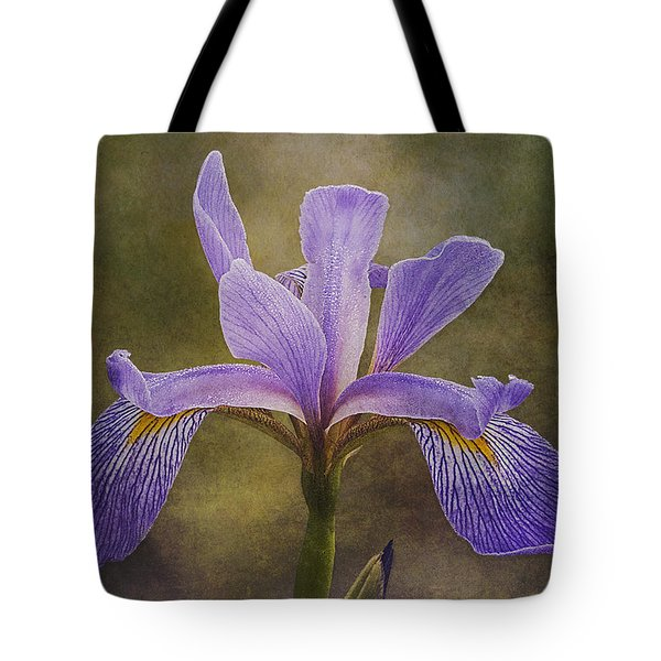 Purple Flag Iris Tote Bag by Patti Deters