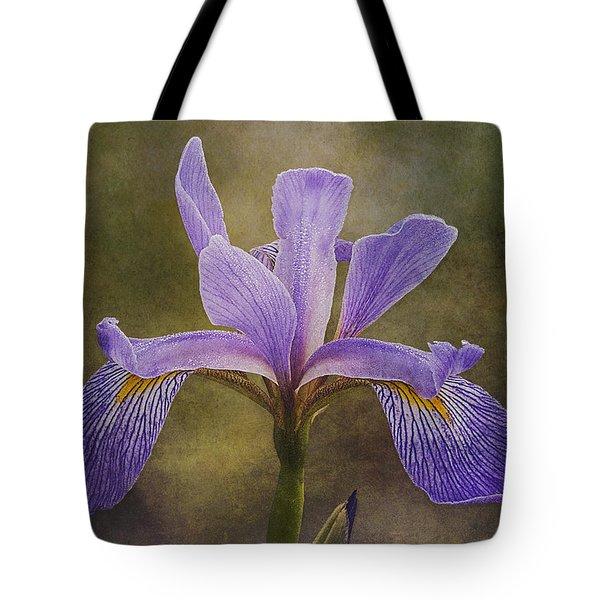 Purple Flag Iris Tote Bag