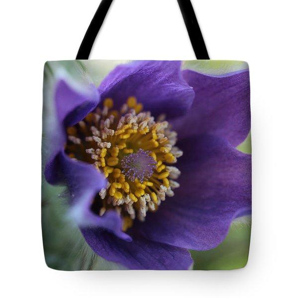 Purple Fleece Tote Bag