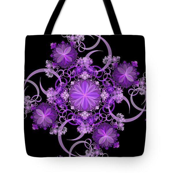 Tote Bag featuring the photograph Purple Floral Celebration by Sandy Keeton