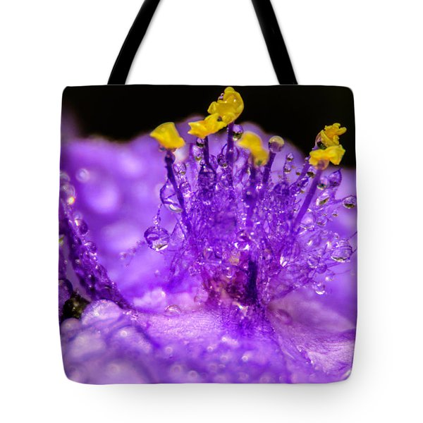 Purple Flower After The Rain Tote Bag