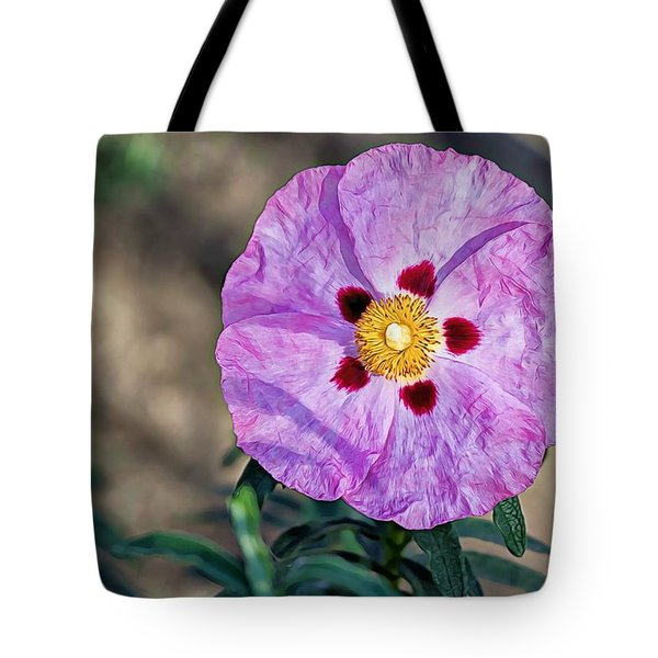 Purple Rockrose Tote Bag