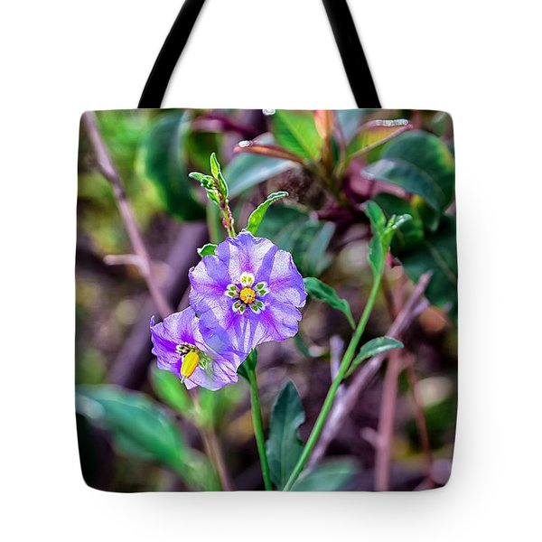 Purple Flower Family Tote Bag