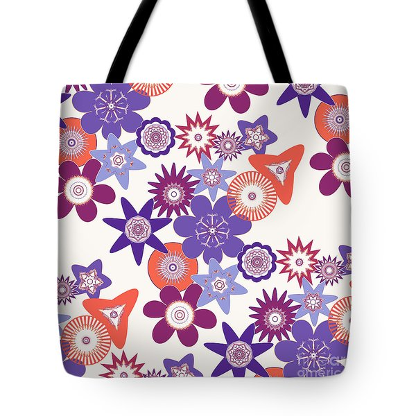 Purple Flower Fantasy Tote Bag by Methune Hively