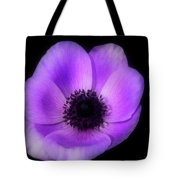 Purple Flower Head Tote Bag