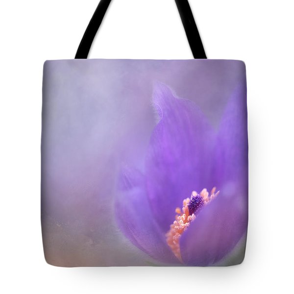 Purple Flower Tote Bag