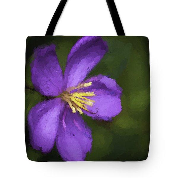 Tote Bag featuring the photograph Purple Flower Macro Impression by Dan McManus