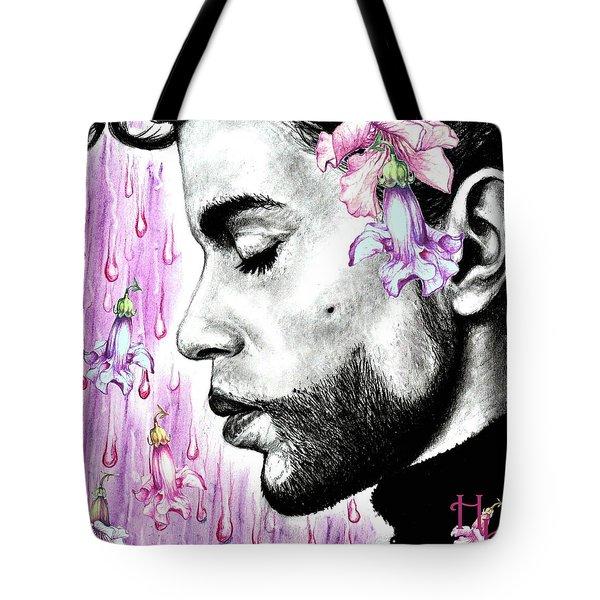 Purple Flower Rain  Prince, Roger Nelson Tote Bag by Heidi Kriel