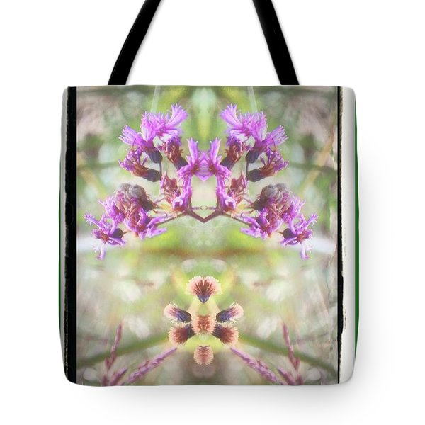 Purple Flower Split Tote Bag