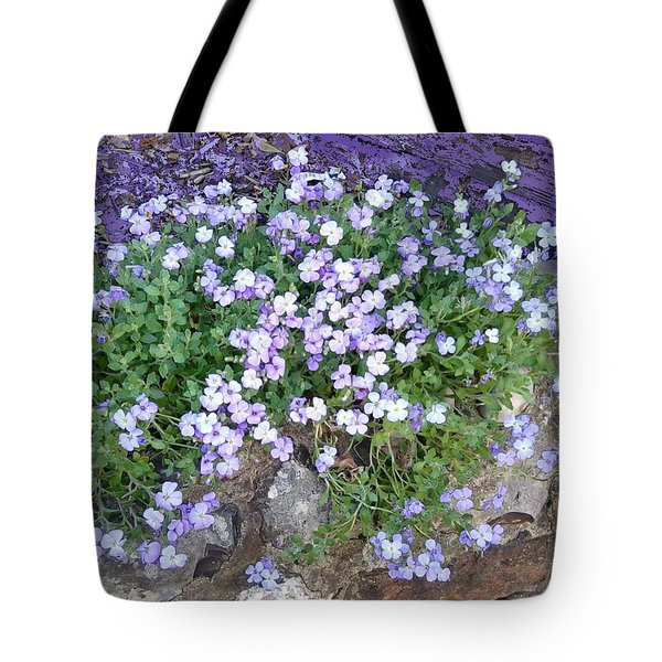 Purple Flower Textured Photo 1028b Tote Bag