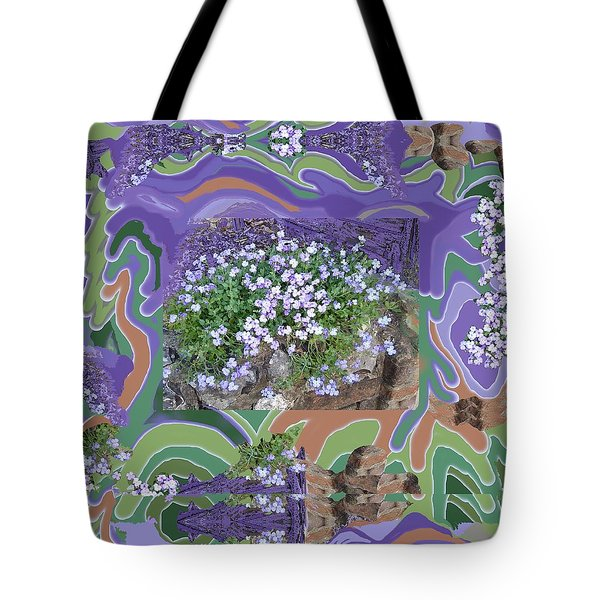 Purple Flower Textured Photo 1028d Tote Bag