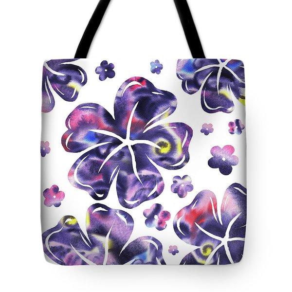 Purple Flowers Dance Tote Bag