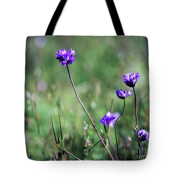 Tote Bag featuring the photograph Purple Flowers by Jim and Emily Bush