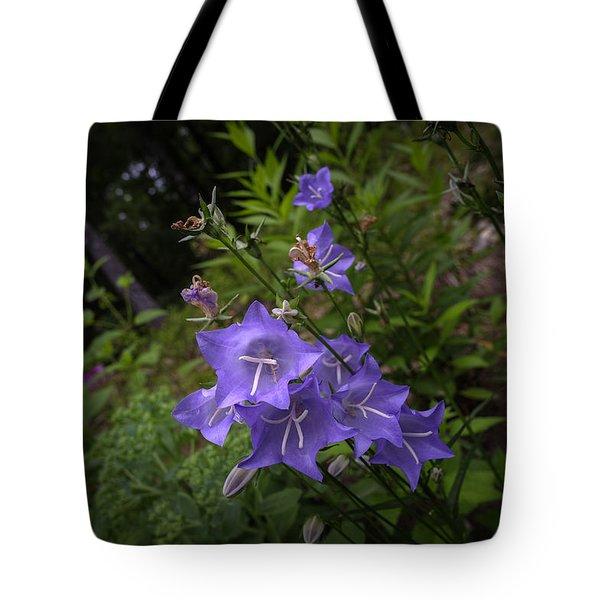 Blue Bellflowers Tote Bag