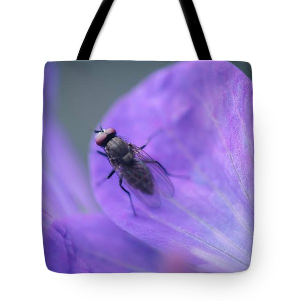 Purple Fly Tote Bag
