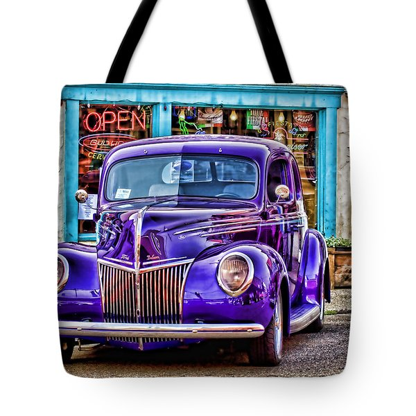 Purple Ford Deluxe Tote Bag