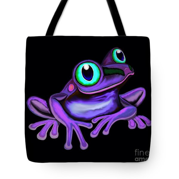 Tote Bag featuring the painting Purple Frog  by Nick Gustafson