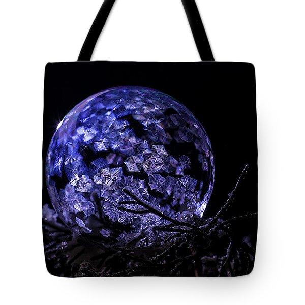 Purple Frozen Bubble Art Tote Bag