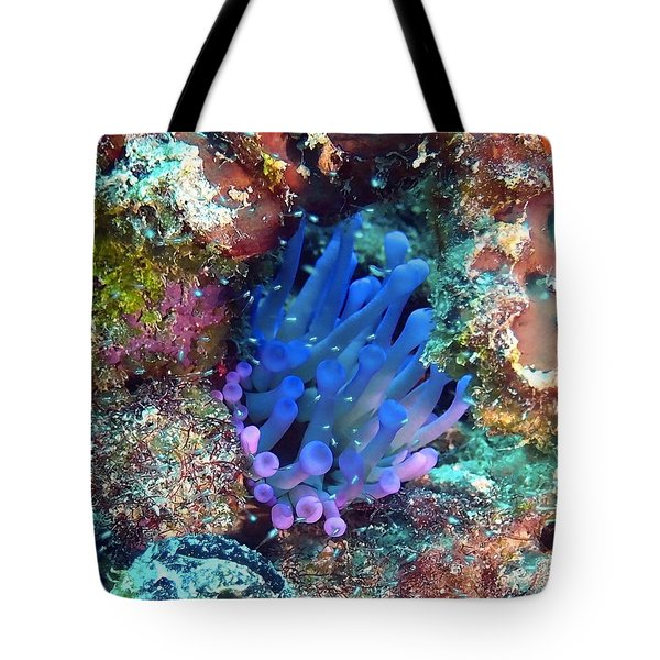 Purple Giant Sea Anemone Tote Bag