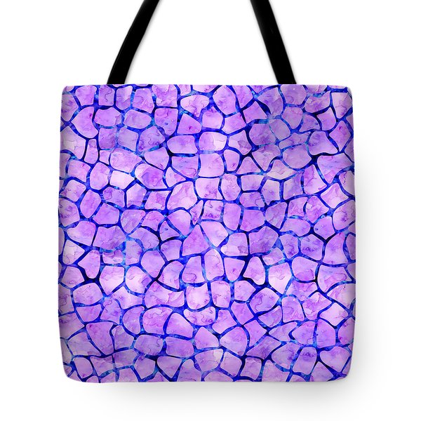 Purple Giraffe Print Tote Bag