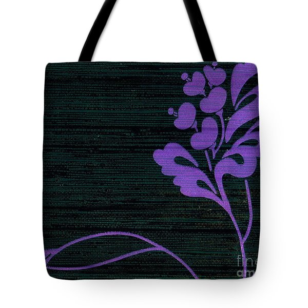 Purple Glamour On Black Weave Tote Bag