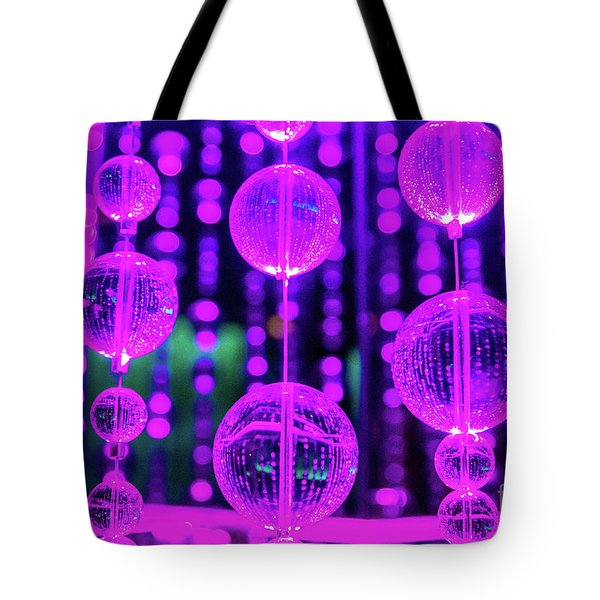Purple Glass Tote Bag