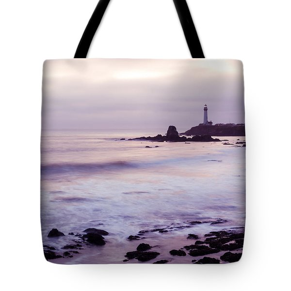 Purple Glow At Pigeon Point Lighthouse Alternate Crop Tote Bag