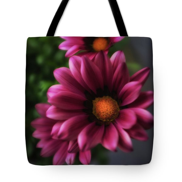 Purple Glow Flower Tote Bag by Ron White