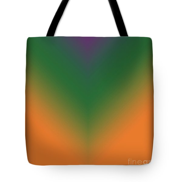 Purple, Green And Orange Tote Bag