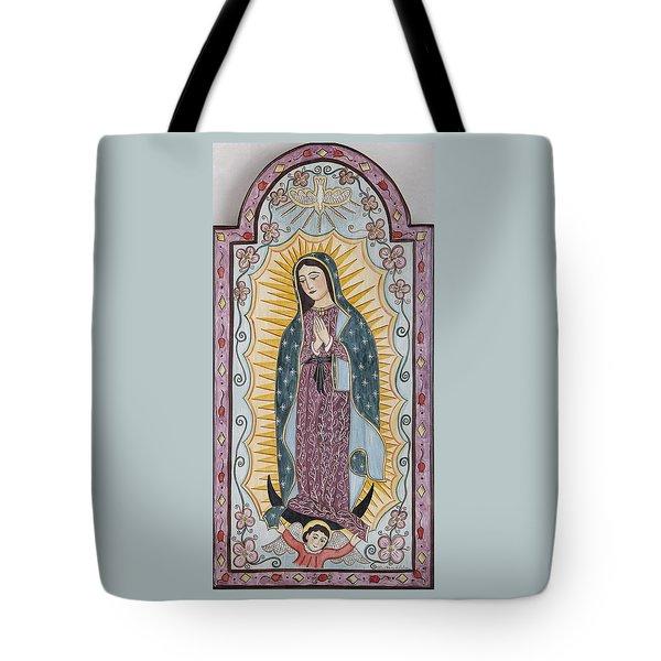 Purple Guadalupe Tote Bag by Ellen Chavez de Leitner