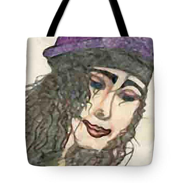 Purple Hat Tote Bag