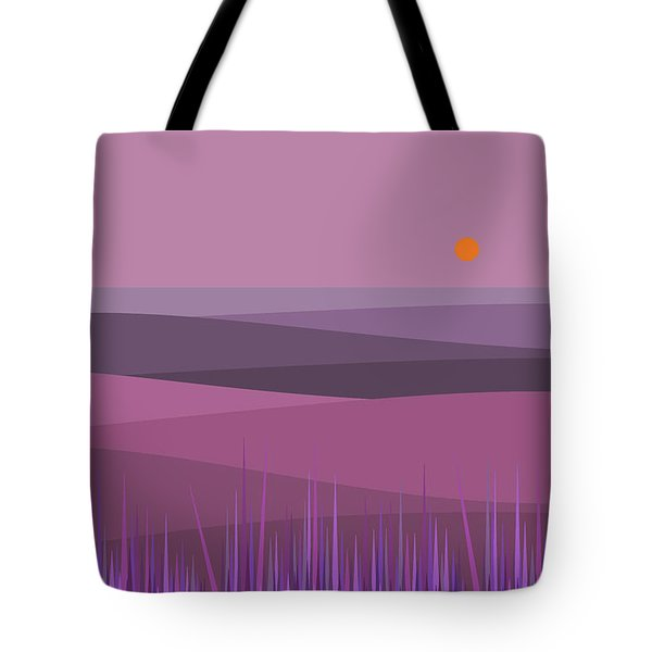 Purple Haze And Orange Sun Tote Bag by Val Arie