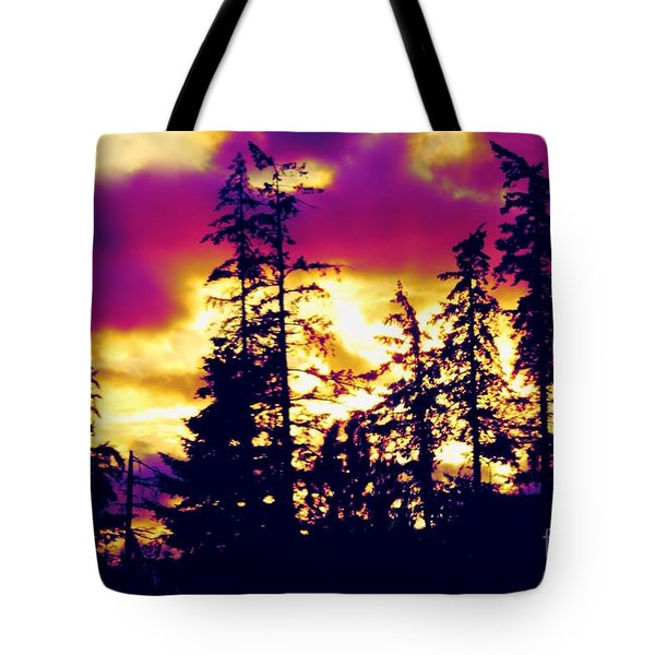 Tote Bag featuring the photograph Purple Haze Forest by Nick Gustafson