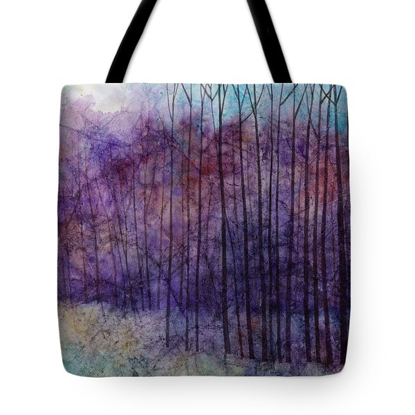 Tote Bag featuring the painting Purple Haze by Hailey E Herrera
