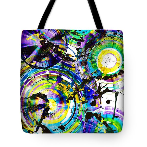 Purple Haze Spheres And Circles 1509.021413 Tote Bag