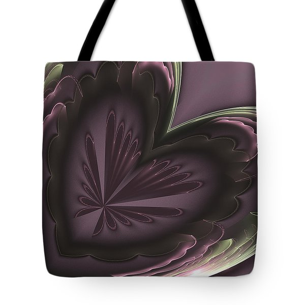 Tote Bag featuring the digital art Purple Heart by Linda Whiteside