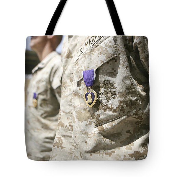 Purple Heart Recipients Tote Bag by Stocktrek Images