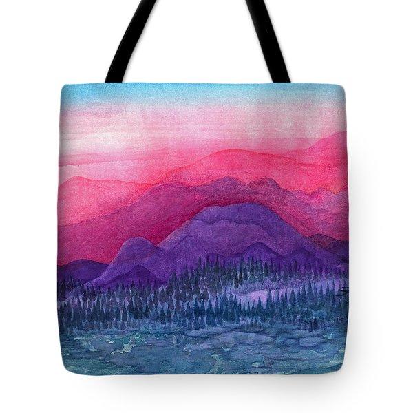 Purple Hills Tote Bag by Adria Trail