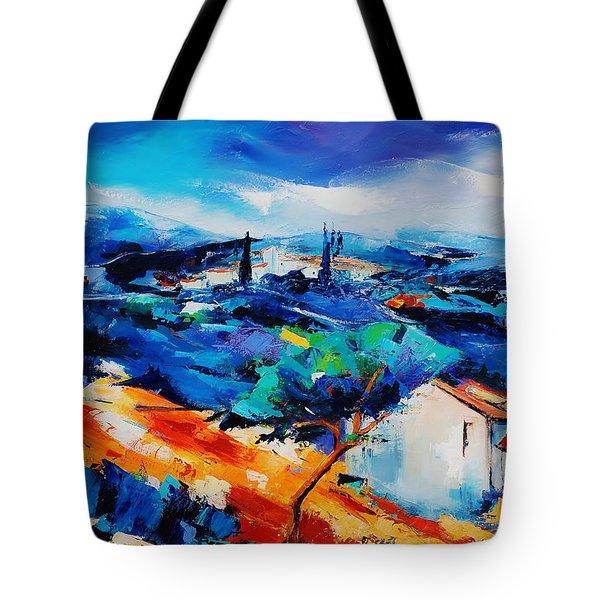Purple Hills Tote Bag by Elise Palmigiani