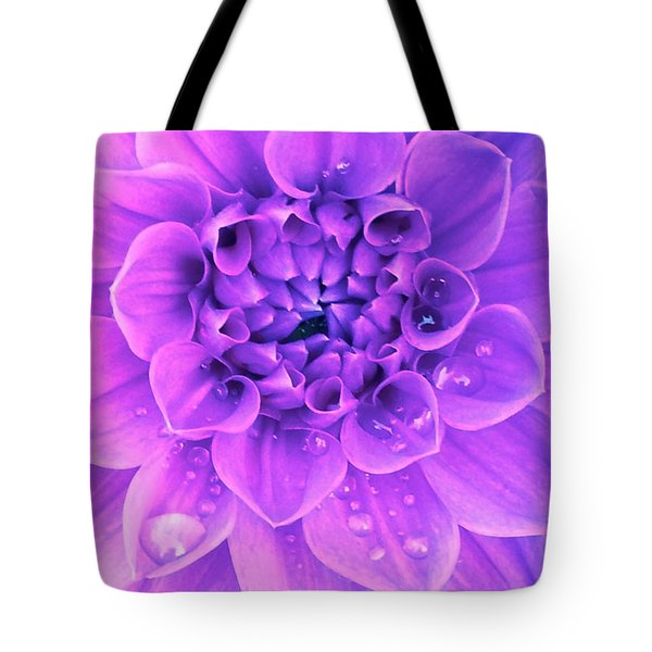 Purple Too Tote Bag by Cathy Dee Janes