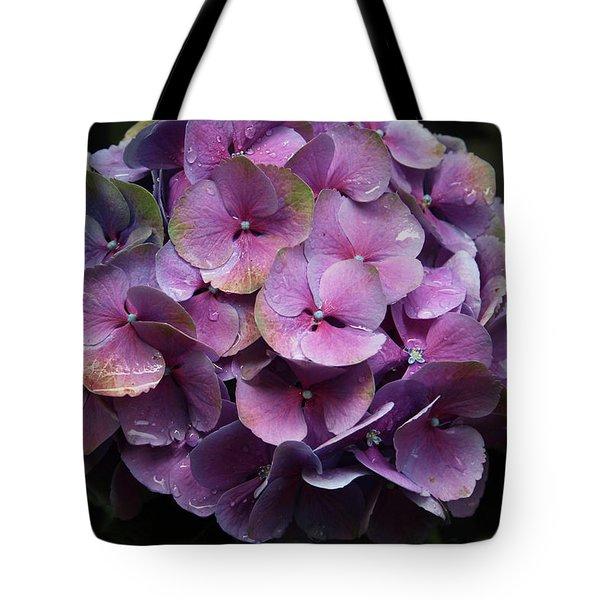 Purple Hydrangea- By Linda Woods Tote Bag